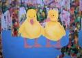Eendjes, 150 x 107 cm, olieverf op doek, 2007