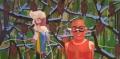 Poppetje 5, 200 x 100 cm, olieverf op doek, 2005