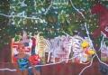 Zebra's, 200 x 130 cm, olieverf op doek, 2006, Verkocht