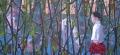 Gabrielle 2, 210 x 97 cm, olieverf op linnen, 2010, Verkocht
