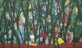 Kanovaarders, 244,5 x 145,5 cm, olieverf op doek, 2011