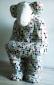 Aap met schutkleuren, 70 x 80 x 110 cm, keramiek/mozaïek, 2014