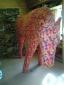 Paard met schutkleuren, 300 x 80 x 170 cm, pluche, 2015