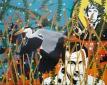 Reiger 2, 150 x 119 cm, spuitverf op linnen, 2015
