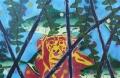 Watch the monkey, 62 x 40 cm, olieverf en acryl op linnen, 2015