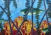 Watch the monkey, 83,5 x 59 cm, olieverf en acryl op linnen, 2015
