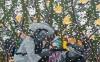 It's snowing, 160 x 100 cm, olieverf en spuitverf op linnen,2016