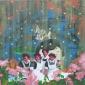 Happy garden, olieverf op linnen, 110 x 110 cm, 2019